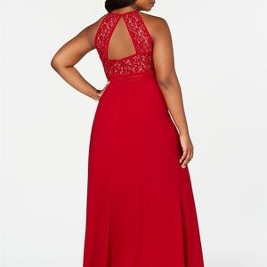 Morgan & Co. Dresses - MORGAN & COMPANY Trendy Plus Size Open-Back Gown